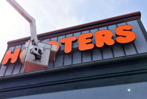 Hooters lights with new covers